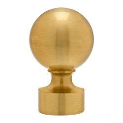 """1⅜"""" Satin Brass Ball Finials (pair)"""