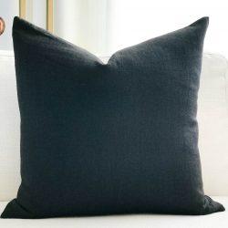 Toss Pillow Swatch: Midnight Linen
