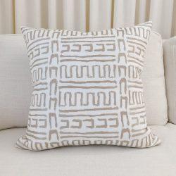 Toss Pillow Swatch: Mudcloth Stitch