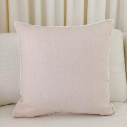 Toss Pillow Swatch: Pom Pom Dreams in Pink
