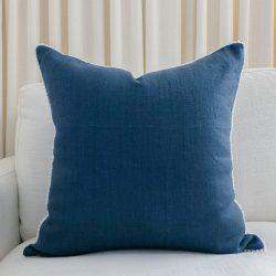 Toss Pillow Swatch: Pom Pom Dreams in Navy