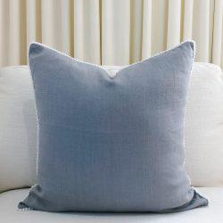 Toss Pillow Swatch: Pom Pom Dreams in Cadet